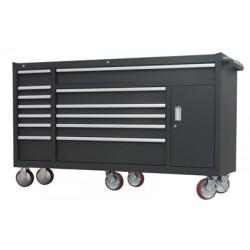 Stor verktygsvagn med 13 lådor och skåp