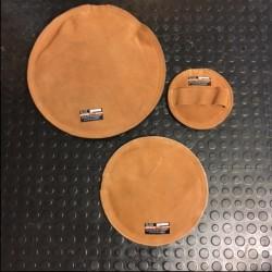 3 x Lädersäck (sandsäck)