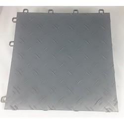 Garagegolv 2 m2/kartong grått Diamond