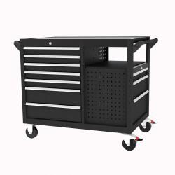 Stor verktygsvagn med lådor & hyllor