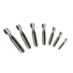 Skaftfräs sats HSS 7 delar 4-16 mm