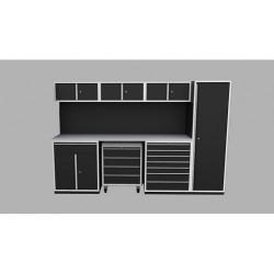 Garageinredning bänk,vagn,överskåp,tavla & högskåp