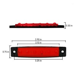 Led-markeringsljus rött