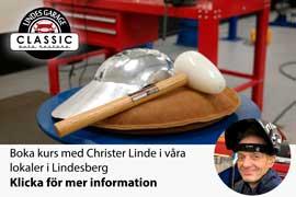 Boka in dig på plåtkurs med Christer Linde i våra lokaler i Augusti!
